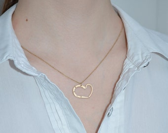 HEART NECKLACE // Heart Necklace Gold - Heart Jewelry - Heart Drop Necklace - Heart Pendant - Tiny Heart Necklace