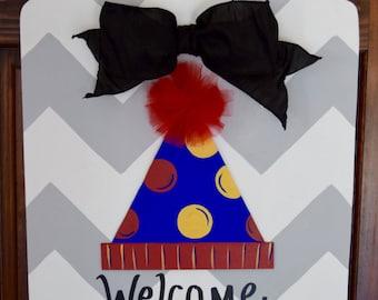 Birthday Party Hat Door Hanger- Attachment Only