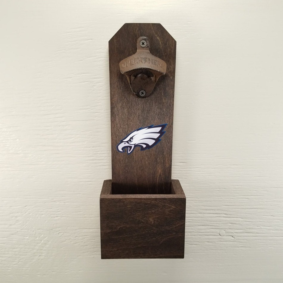 wall mounted bottle opener philadelphia eagles bottle cap