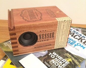 Tennessee Bluetooth Speaker, Wood Cigar Box, Wireless Speaker