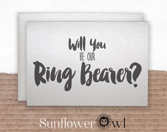 Will you be my ring bearer card from groom engagement groomsman best man wedding party invitation for wedding bachelor party