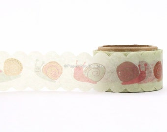 Die Cut Washi Tape, Planner Scallop Snail Banner Garland, Planning Stationery Planner Supply Decorative Party Decoration FSAWAP