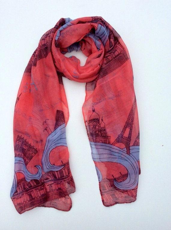 scarf parisian gift scarf by embellishmoime