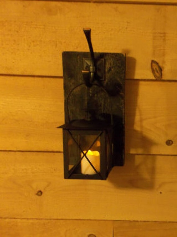 Items similar to Hanging Wall Lantern. Reclaimed wood. Pallet wood. on Etsy