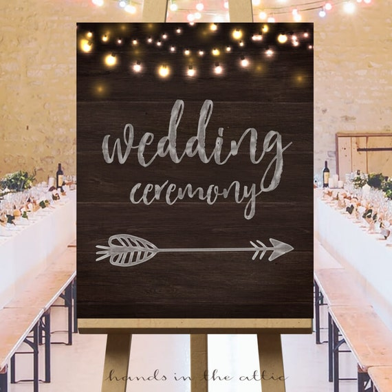 Favorite Wedding ceremony direction signs, large printable arrow signs  MO19