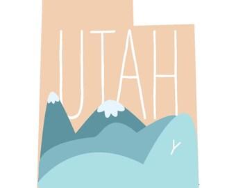 Northern Utah Print 5x7
