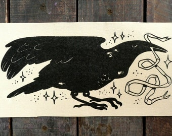 Crow Sew On Canvas Patch