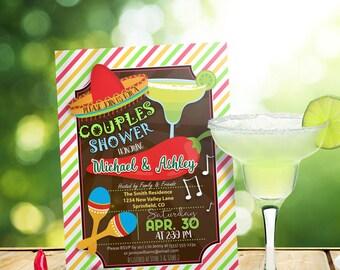 Fiesta Couples Shower Invitation - Personalized Printable DIGITAL FILE