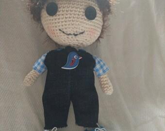 Amigurumi crocheted doll Adam