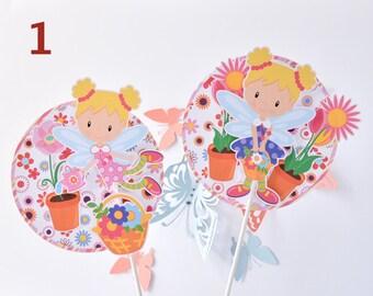 High Fairy Centerpiece Baby Shower, Fairy Birthday Decoration, Fairy Birthday Party, Fairy Cupcake Centerpiece, Fairy Party Supplies