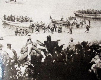 Anzac Day Press Photo, Dawn Landing Anzac Cove Gallipoli April 25 1915, World War I