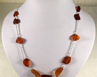 Raw Baltic Amber necklace authentic jewellery 100% NATURAL!!! FREE SHIPPING! 1436