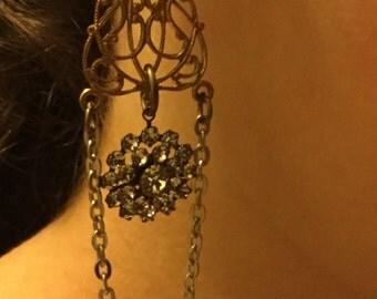 Dangling dreams - unique vintage assemblage earrings