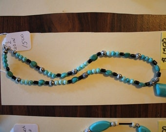 turquoise necklace with turquoise pendant