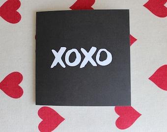 XOXO Folded Greeting Card | Valentine's Day, Love, Friendship, Celebration