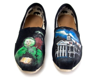 Custom Hand Painted Haunted Mansion Shoes