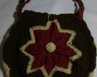 Crochet star tote bag. Handmade multicolor tote bag ,Crochet tote bag original design. Bolso tote multicolor  en crochet