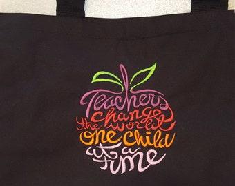 Teacher Tote Bag, Monogram teachers tote, teacher large tote, teacher monogrammed tote, teacher gift, teacher tote bag, teacher appreciation