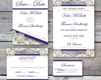 Rustic Romanesque Wedding Invitation Suite