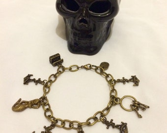 Pirate charm bracelet inspired by pirates of the Caribbean