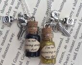 Hamilton Musical inspired I'm Not Throwing Away My Shot Bottle Necklace / Pendant / Bookmark / Earrings / Decoration / Keyring