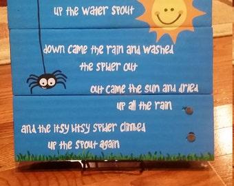 Itsy Bitsy Spider Nursery Sign