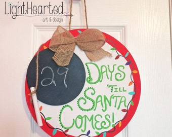 Christmas Countdown // Holiday Countdown // Gift // Hand-Painted Decor