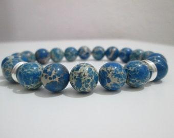 Variscite, Variscite blue bracelet blue Variscite, bracelet mens man semi-precious stones, gift