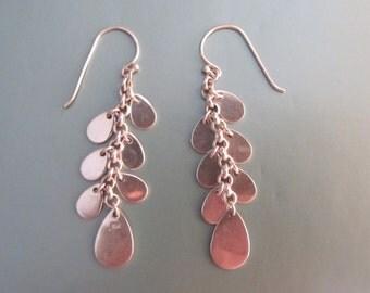 Sterling Silver Dangle Drop Earrings 7.31g