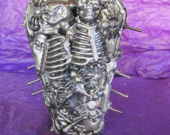 Twin Skeleton Coffin Box