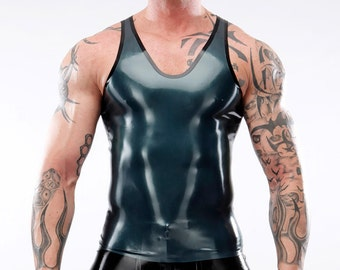 Singlet LaTeX tank top, ready for dispatch in L