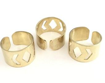10 pcs 20x13 mm Raw brass Adjustable Ring Base