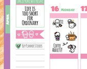 Munchkins - Coffee Addict Planner Stickers (M162)