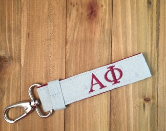 Alpha Phi Sorority Key Chain - Personalized A Phi Sorority Key Fob