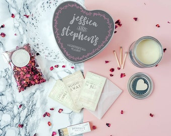 Couple's Survival Kit - Personalised Pamper Kit For Couples - Love In A Box Kit - Valentine's Kit - Date Night Kit