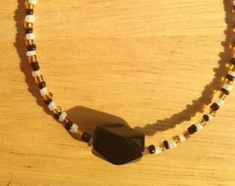 Black and Gold Bracelet or Anklet