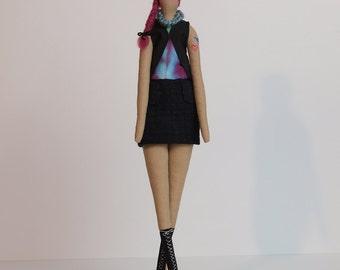 Urban Girl - Tilda-style doll