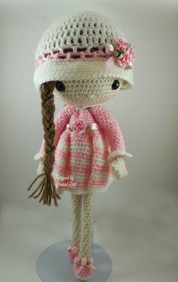 Star Wars Crochet Dolls Free Pattern : April and her Rabbit- Amigurumi Doll Crochet Pattern PDF ...