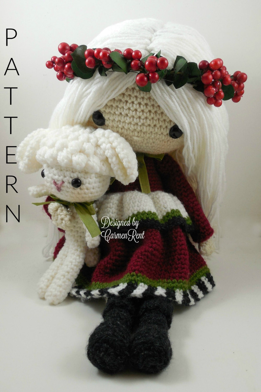 Amigurumi Doll Clothes Patterns : December Amigurumi Doll Crochet Pattern