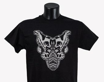 T-shirt Heavy metal/Tattoo T-shirt/Psychedeic tshirtUnderground/T-shirt Black/Men T-shirt/splited mind/Black Tshirt