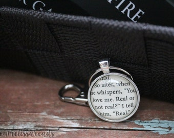 Real or not real? Real. keychain - Hunger Games keychain - Hunger Games Quote keychain - Fandom keychain