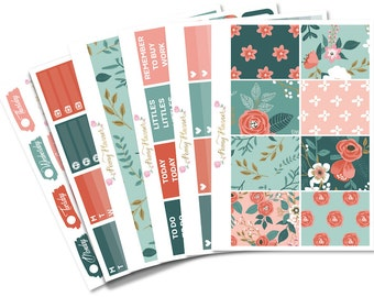 Botanica Full Planner Sticker Kit for use with ERIN CONDREN LIFEPLANNER™, Happy Planner, Travelers Notebook etc