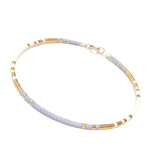 Gefüllt Armband Bead Gold Goldarmband winzigen Perlen Armband ...
