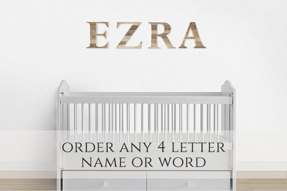 Nursery Wall Decor Letter For Nursery Baby Name Sign