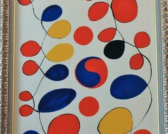 Alexander Calder Limited Edition Lithograph! Authentic Vintage 1971! Alexander Calder ~  From The Series Entitled 'Peace' Archivally Framed