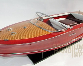 "Hand-made Model Boat Century Resorter 1958 27"""