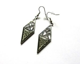 Geometric grey earrings