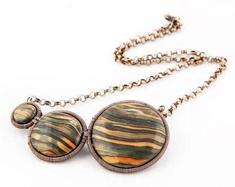 Danae polymer clay necklace