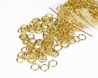 Gold Jump Rings 6mm - 200+ Pieces