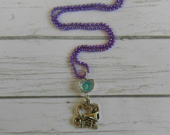 Cheerleader Necklace// Custom Sports Necklace// Cheer Gift// Girls Sports Necklace// Choose Sports Charm, Chain Color & Crystal